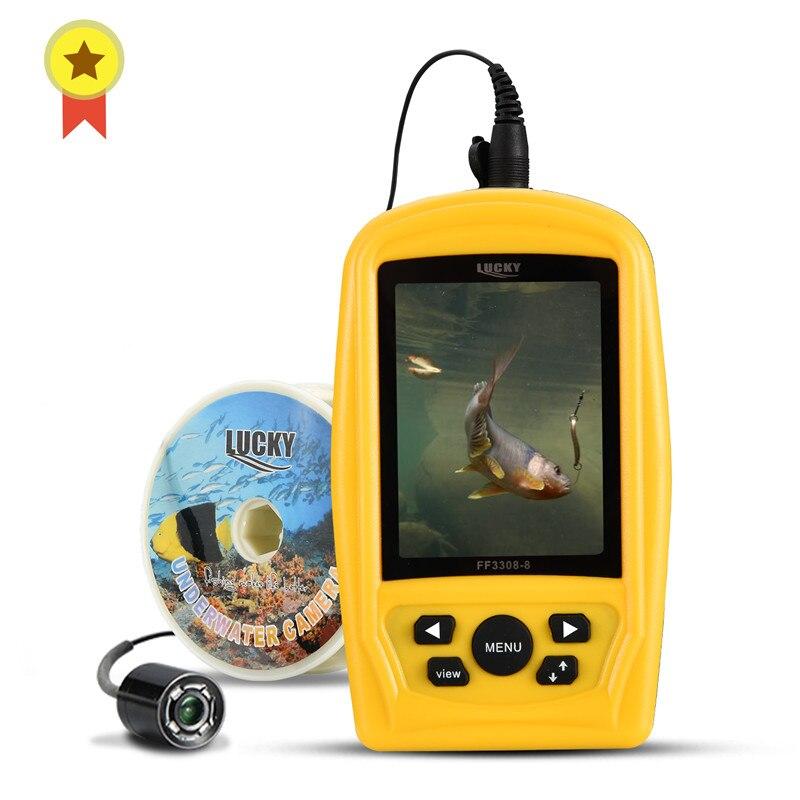 SORTE Portátil Pesca Submarina corresponder apenas com 3308-8 Sistema CMD sensor 3.5 polegada TFT RGB Monitor de Peixe À Prova D' Água mar 20M