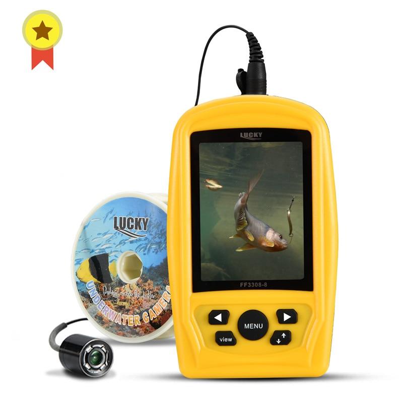 Şanslı taşınabilir sualtı balıkçılık sadece maç 3308-8 sistemi CMD sensörü 3.5 inç TFT RGB su geçirmez monitör balık deniz 20M