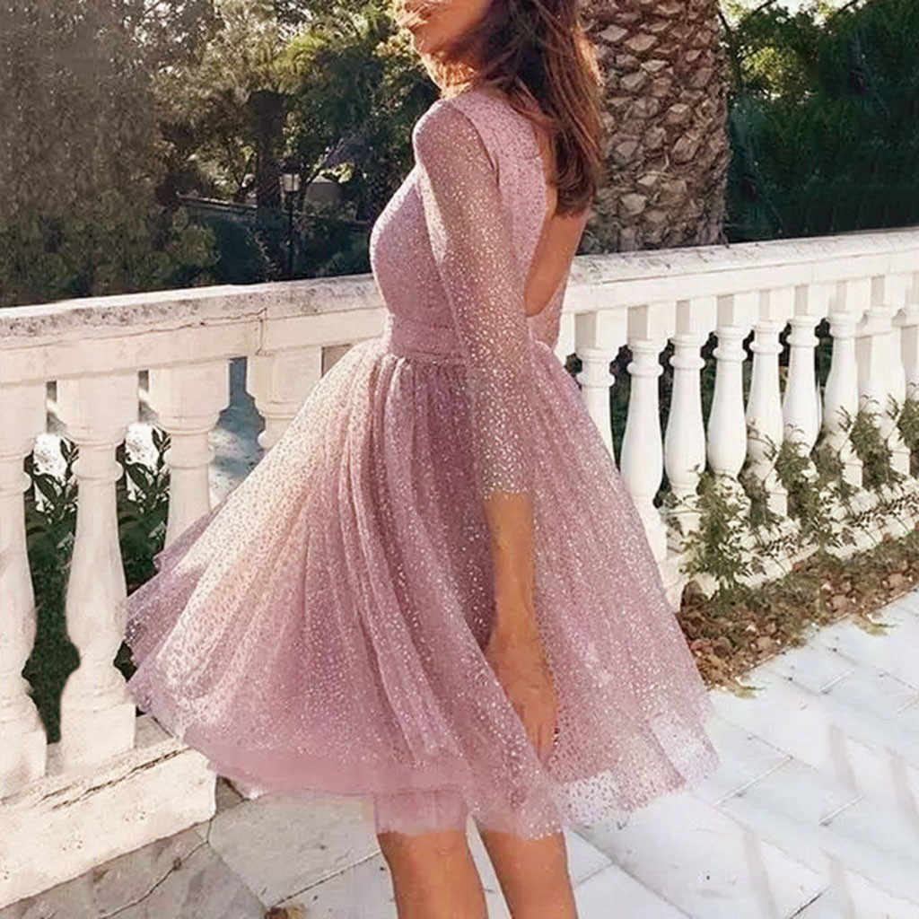 Mesh Seksi Gaun Pesta Wanita Sling Cross Pernikahan Kembali Gaun O-neck Elegan Pesta Slim Berongga Renda Gaun Bodycon Sukienki