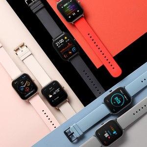 Image 4 - جديد Amazfit GTS النسخة العالمية ساعة ذكية معدل ضربات القلب هوامي مع نظام تحديد المواقع 5ATM مقاوم للماء Smartwatch دعم لنظام أندرويد IOS