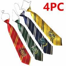 Комплект из 4 предметов для детей и взрослых, новый Slytheri/Gryffindo Гарри Поттера галстук для косплея с принтом солдата для Академии автоматическ...
