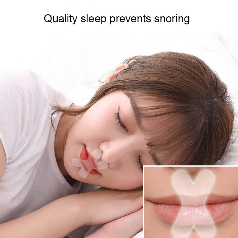 30Pcs Night Anti Snoring Sticker Sleep Strips Advanced Gentle Mouth Tape For Breathing Improved Nighttime Sleeping