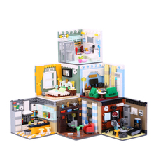 MEOA Living House Sets 6 Styles Home Furnishing Building Blocks MOC Bricks Room Model Compatile Legoings City Fiends Kids Toys