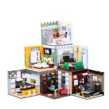 MEOA Living House Sets 6 Styles Home Furnishing Building Blocks MOC Bricks Room Model Compatile Legoings City Fiends Kids Toys