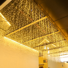 4.6-40m Christmas Garland Icicle Curtain Lights LED Fairy String Lights Garden Street Outdoor Decorative Light Steady on 220V