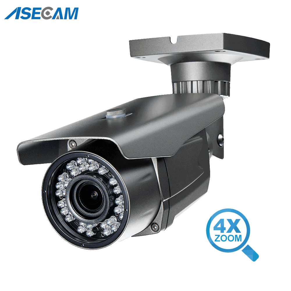 Super HD 4MP H.265 IP Camera Zoom Varifocal 2.8-12mm lens OV4689 + HI3516D Onvif Bullet CCTV Outdoor PoE Network Security Camera