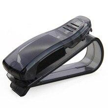 Vendita calda accessori auto visiera parasole occhiali da sole occhiali carta penna Abs Clip portatile porta biglietti supporto 1 pezzo