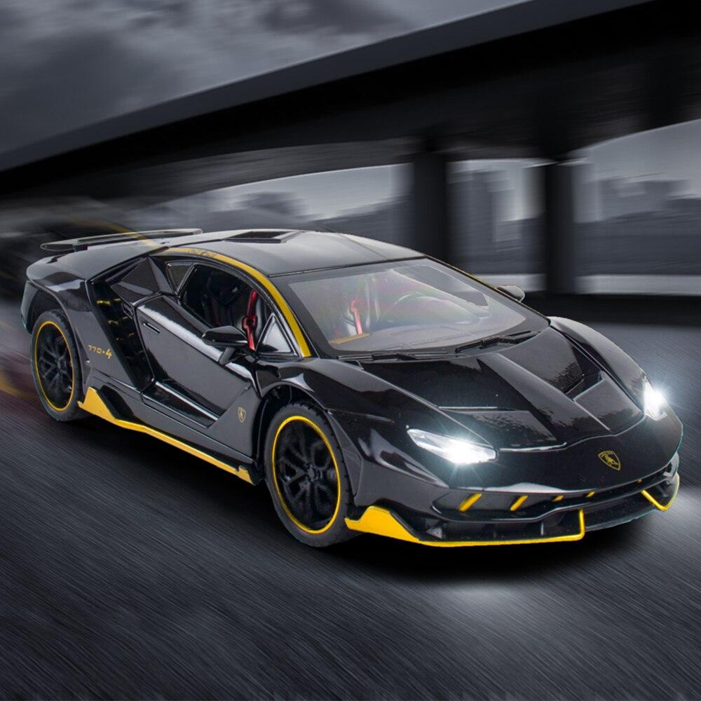2020 1:24 1:32 Lamborghinis LP770-4 Car Alloy Sports Car Model Diecast Sound Super Racing Hot Car Wheel Children Gift Collection