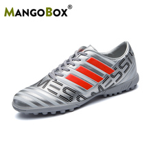 2019 Hot Boy Soccer Children Shoes Cleats For Turf Football Orange Silver Soccer Shoes For Men Luxury Brand Latest Soccer Cleats soccer shoes children boy girl new hot sale rubber soccer outdoor sport athletics breathable comfortable children shoes