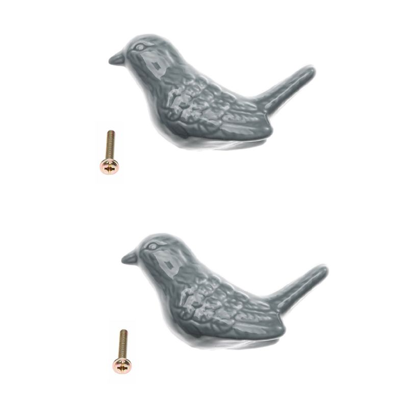 2Pcs/Set Drawer Pull Cupboard Knobs 3D Cartoon Bird Drawer Handles Peace Dove Grip With Scrws For Wardrobe Cabinet X6HC|Cabinet Pulls|   - AliExpress