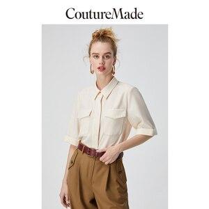 Женская шерстяная рубашка с двойными карманами и рукавами до локтя Vero Moda CoutureMade   31946W501