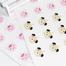 90pcs/lot Lovely Animal design Cookies Packaging Handmade Sealing Label Kraft Sticker Baking DIY Gift Box Stickers 90pcs pack for you candy color sealing sticker stationery gift bakery stickers cookies label supply