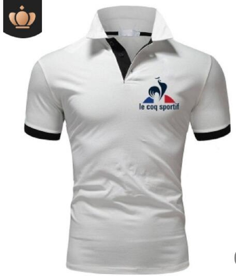 2019 Le Coq Sportif Men's Outdoor T-shirts Breathable Fit Casual Lapel Camping Hiking  Le Coq Sportif Men's T-shirts