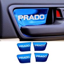 цена на Stainless Steel Car Styling Inner Door Handle Bowl Cover Trim For Toyota Land Cruiser Prado 150 FJ150 LC150 2010-2017 2018 2019