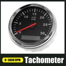 """3000 סל""""ד טכומטר מד 85mm עבור אוניברסלי רכב סירת Tachometer 12V/24V LCD שעה מטר עם אדום תאורה אחורית"""