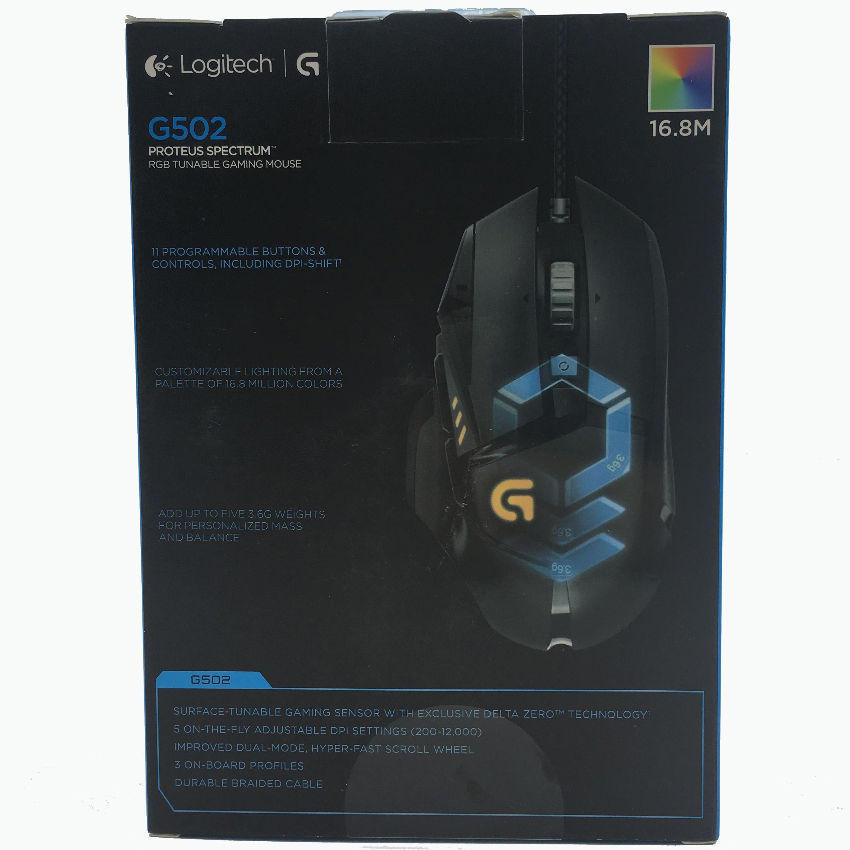 100% Оригинальная английская упаковка logitech G502 RGB светодиодный Proteus Spectrum настраиваемая Лазерная игровая мышь USB Проводная 12000 dpi геймерская мыш... - 2