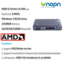 Mini PC K400-C2 AMD Quad-core 2.0Ghz Small Desktops Windows 7/8/10 Linux 8xUSB HDMI VGA 8G SSD 256G Home Computer with WIFI