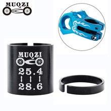 Muqzi bicicleta garfo dianteiro kit de conversão diâmetro interno anel conversão 25.4 a 28.6mm liga alumínio acessórios práticos