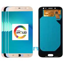 5.5 pollici Per Samsung Galaxy J7 Pro 2017 J730 SM-J730F Super Amoled Display LCD e Touch Screen Digitizer Assembly di Ricambio(China)