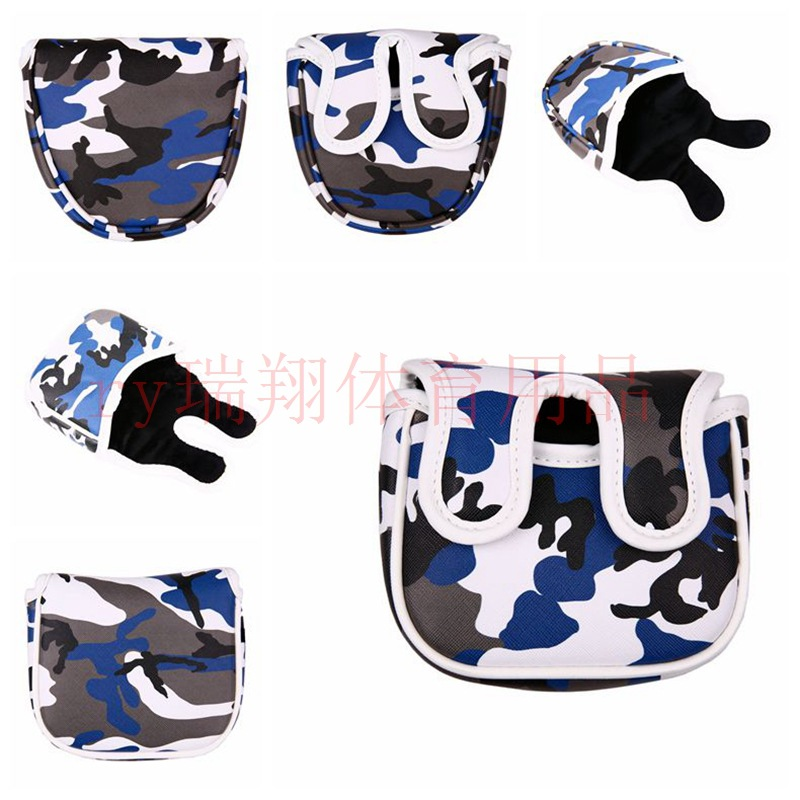 Foreign Trade Electricity Supplier Hot Sales Golf Club Sleeve Batch Camouflage PU Leather Semicircle-Square-Double-Ear Protectiv