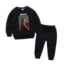 Childrens Frank Ocean Blond Blonde Print Cotton Hoodies Sweatshirts Girl Kids Pullover Tops Baby Boys Autumn Clothes