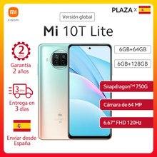 Xiaomi – Smartphone Mi 10T Lite 5G, Version globale, 120Hz, écran DotDisplay 6,67 pouces, Snapdragon 750G, Quad caméra 64mp, NFC, téléphone portable