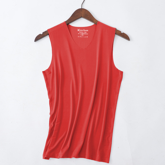 No trace Summer Cool Men Vest Cotton Tank Tops Underwear Mens Undershirt Transparent Shirts Male Bodyshaper Fitness sleeveless 3