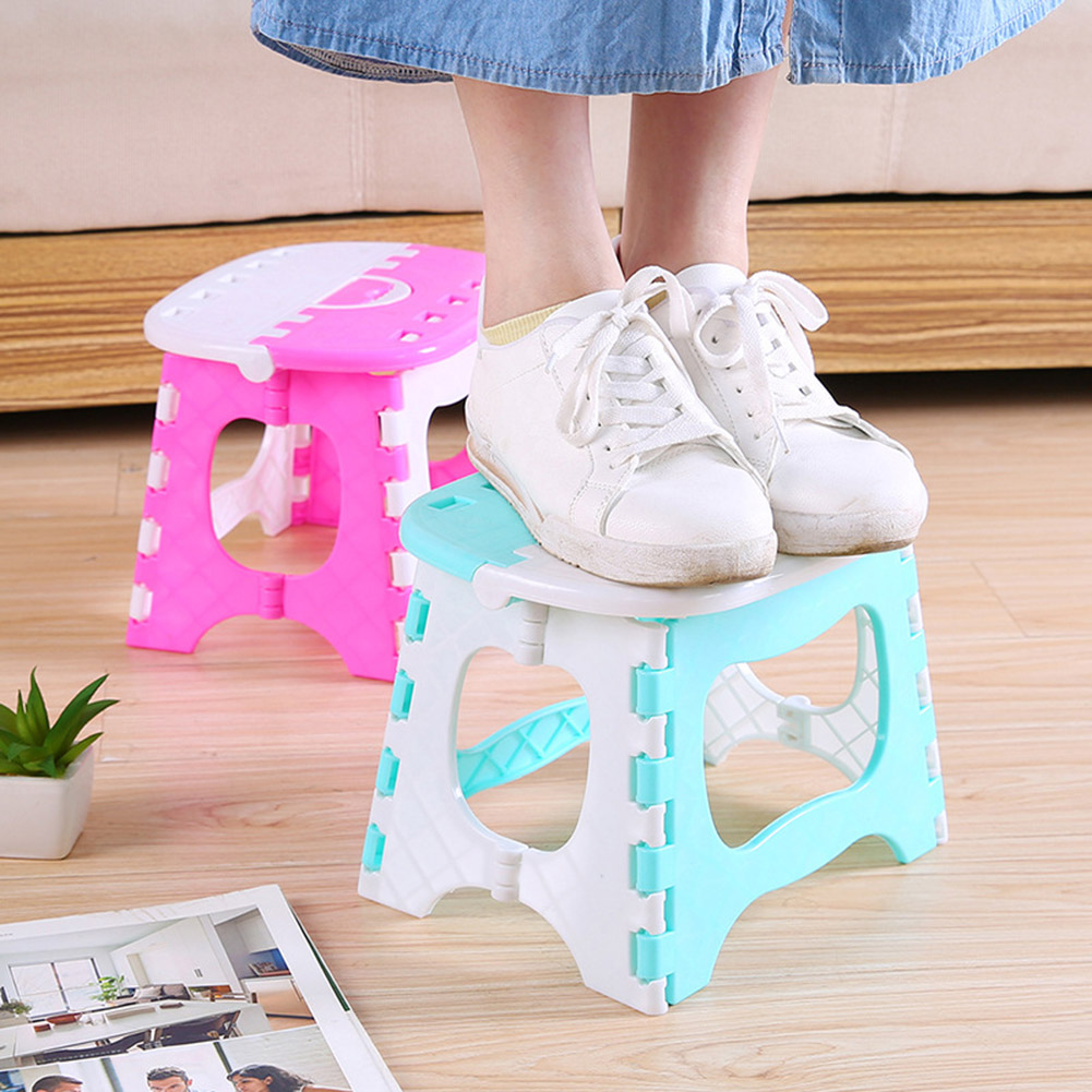 Folding Stool Camping Chair Seat For Outdoor Fishing Plastic Portable Step Stool For Kids Adults Outdoors Bathroom Travel