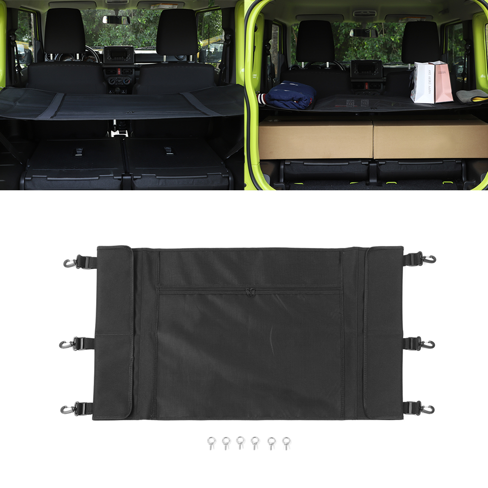 For Suzuki Jimny 2019 2020 Car Luggage Carrier Trunk Curtain Cover Car Interior Accessory Black ABS/Canvas For Suzuki Jimny 19+