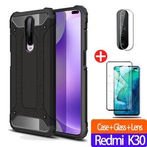защитный чехол на телефона Redmi k30 Case Note 8 Pro Чехол+Стекло+Камера Крышка для Xiaomi Redmi Note-8-Pro 8Pro 8 T K-30 противоударный чехол для ксиоми редми ноте 8 пр...