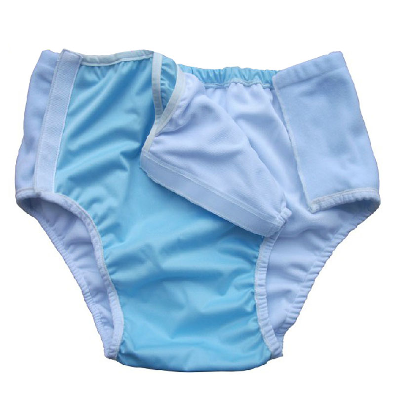 Washable Waterproof Adult Diapers Incontinence Urine Does Not Wet Non Disposable Diaper Cloth Diaper Pants Shorts With Insert