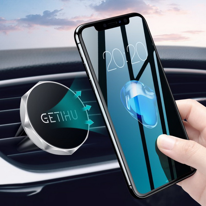 GETIHU Car Phone Holder Magnetic Air Vent Mount Mobile Smartphone Stand Magnet Support Cell in Car GPS For iPhone XS Max Samsung-in Phone Holders & Stands from Cellphones & Telecommunications