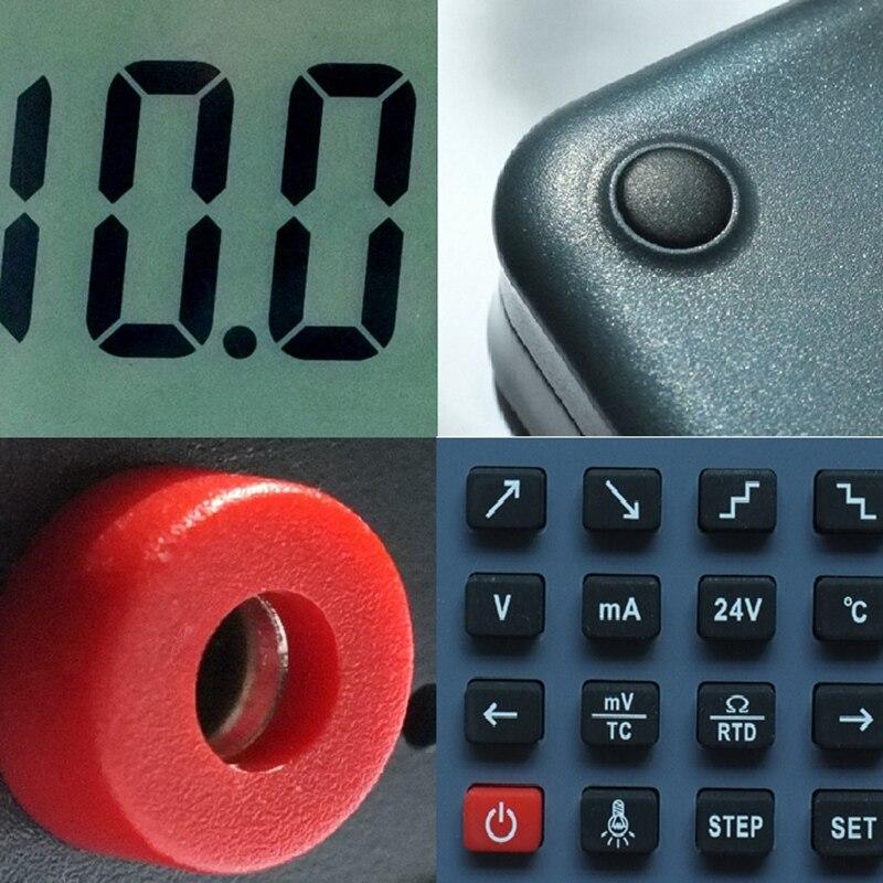 Lb02 compteur de tension de résistance 4-20Ma 0-10 V/Mv Source de générateur de Signal Thermocouple Pt100 testeur de calibrateur de processus de température - 4