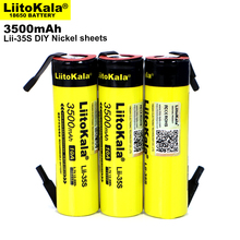 1 12PCS Original Liitokala Lii 35S 3.7V 3500Mah 18650แบตเตอรี่ลิเธียมเชื่อมนิกเกิลแผ่น