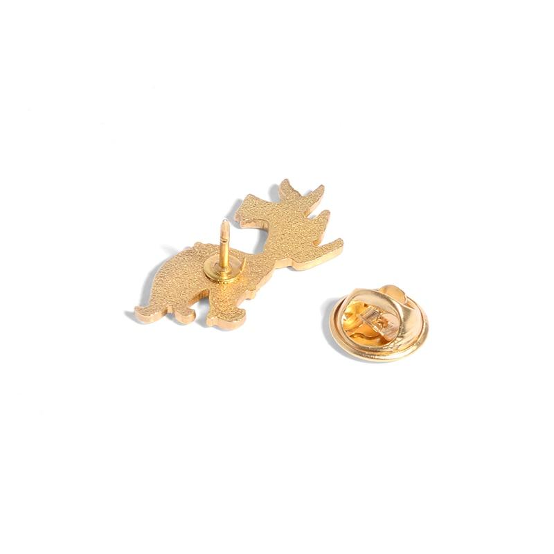 Little Fox Enamel Pin Custom Mini Animal Brooches for Shirt Lapel Backpack Cartoon Big Tail Fox Badge Jewelry Gift for Friends 4