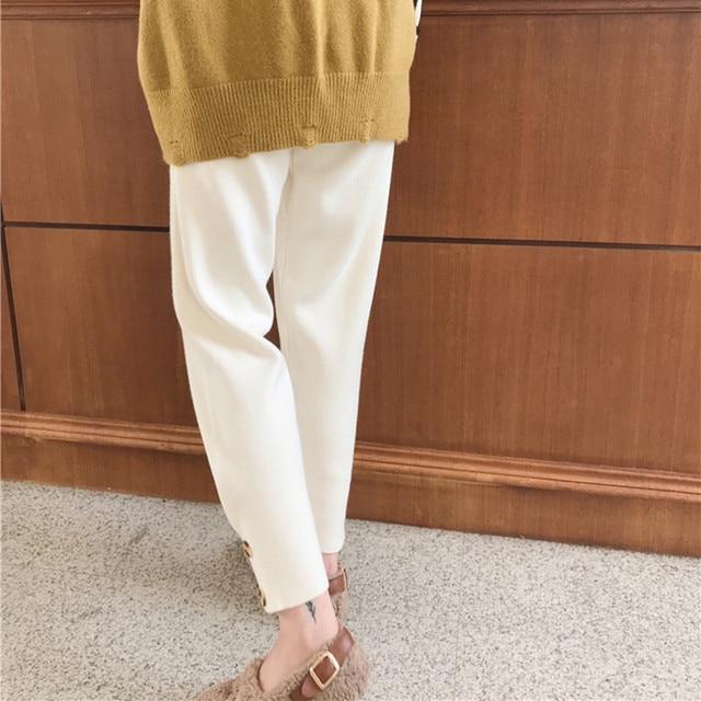 Casual High Waist Granny Harlan Pants  2