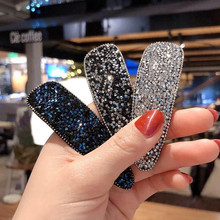 Square Bling Crystal Hairpins Headwear forWomen Girls Rhinestone Hair Clips Pins Barrette Accessories
