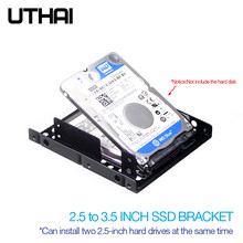 Uthai g16 suporte de disco rígido, dupla camada de 2.5 para 3.5 Polegada disco rígido baía notebook/laptop sólido ssd suporte da movimentação de estado