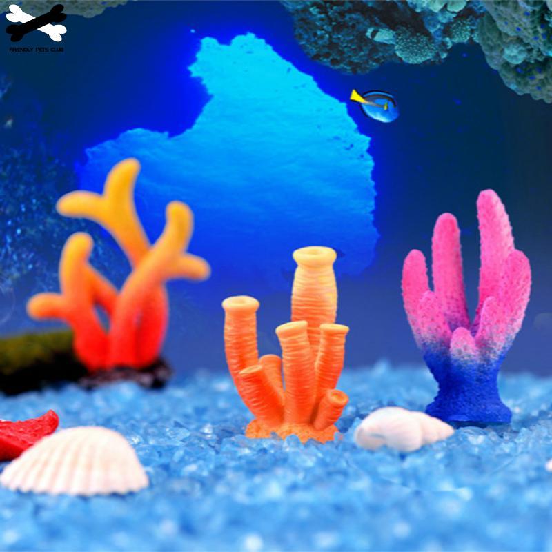 Аквариумные украшения из смолы для кораллов, красочные украшения для аквариумов, искусственные кораллы для аквариумов, украшения из смолы 23