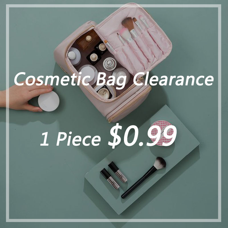 PURDORED 1 Pc Women Cosmetic Bag Clearance Big Promotion Clear Makeup Pouch