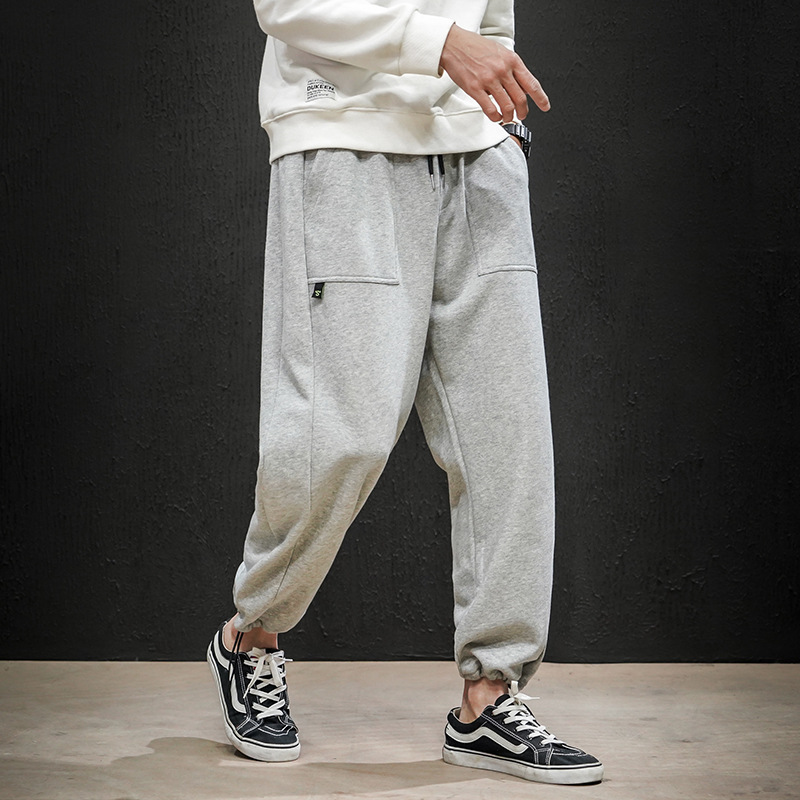 Northern Boundary Men'S Wear 2020 Spring New Style Plus-sized Menswear Casual Pants Men's Loose-Fit Sports Casual Long Pants Men
