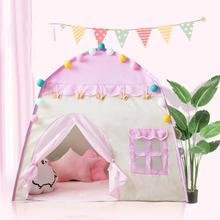 цена Children Tent Toy Tent For Kid Pink Play House Outdoor/Indoor Fun Toys Castle Villa Foldable Play Tents Toys For Children в интернет-магазинах