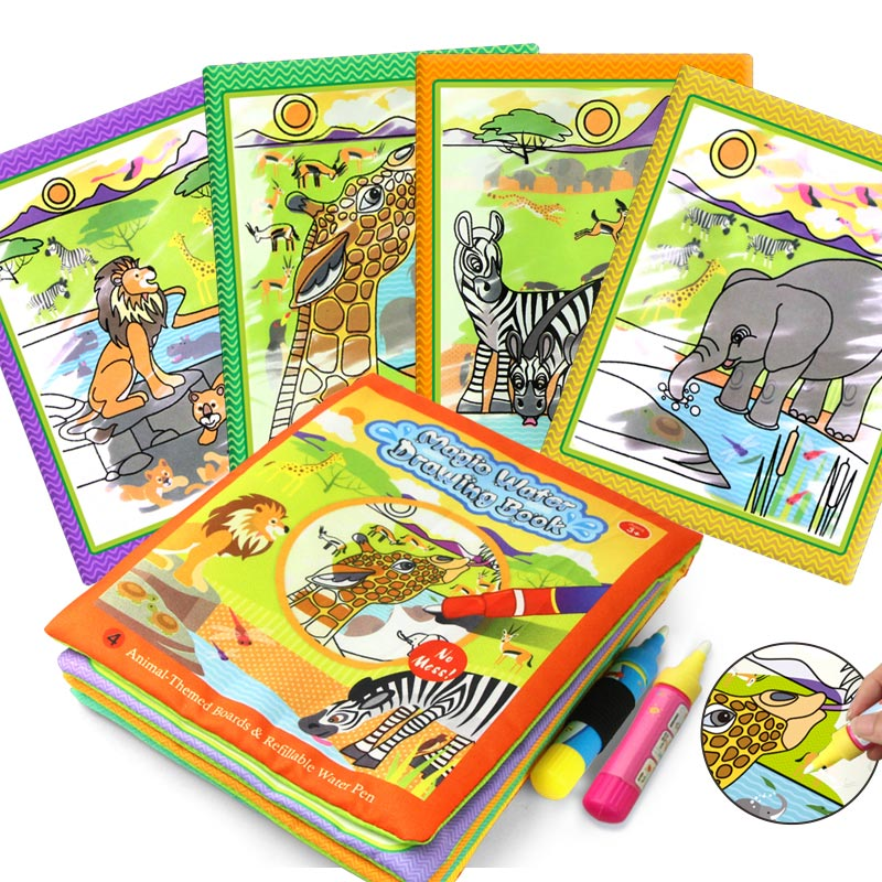 Coolplay  Magic Water Drawing Book Coloring Book Painting Board Doodle Book In Drawing Toys Educational Toys For Kids Xmas Gifts