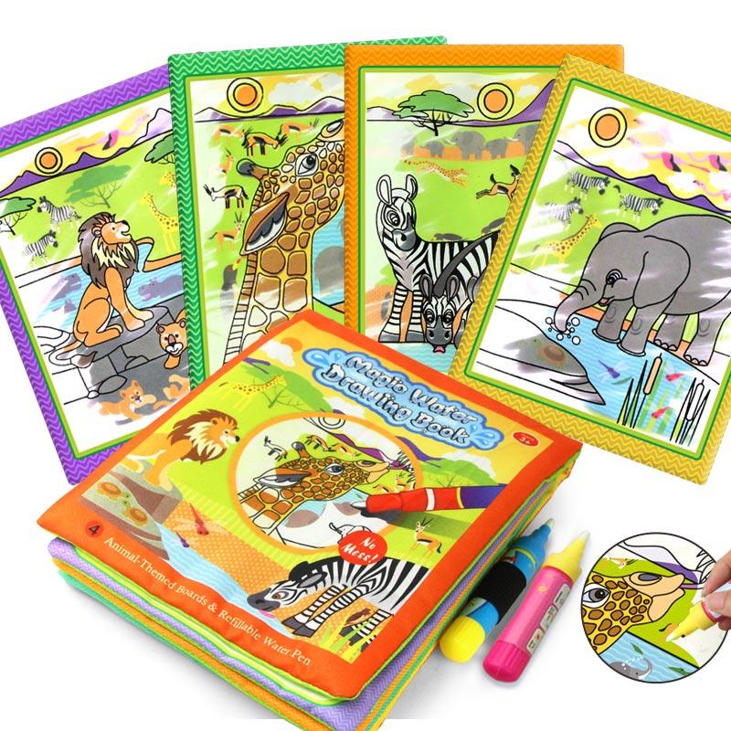 Coolplay Волшебная книга для рисования водой, раскраска, доска для рисования, книжка для рисования, игрушки для рисования, обучающие игрушки для...