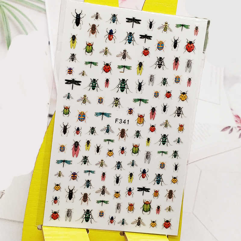 3D Nail Sticker Insect Bee Ontwerp Nail Art Decoraties Stickers Folie Decals Manicure Accessoires Nagels Decoraciones