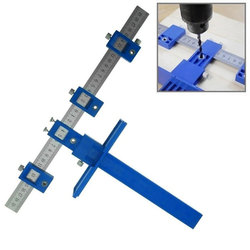 0-250MM Hole Punch Locator Jig Tool Drill Guide Sleeve for Drawer Hardware Dowel Wood Drilling Punching Ruler Metric and Inch