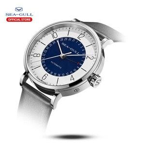Image 2 - Seagull Men and Women Watch Fashion Personality Mechanical Watch Calendar Waterproof Leather Couple Watch 819.97.6052