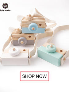 Wooden Baby Toys Montessori-Toys Camera Kids for Diy Present Nursing-Gift 1pc Pendants