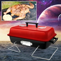 BBQ Grill Oven Aluminium Alloy Charcoal Grill Portable Party Accessories Household Barbecue Tools Outdoor Camping Picnic Burner