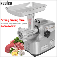 XEOLEO 30KG\/H Meat grinder Enema machine Electric Meat cutter Aluminum Meat Shredded machine Mini Sausage Enema maker 110\/220V